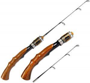 Fiblink 2-Piece Portable Travel Ice Fishing Rod