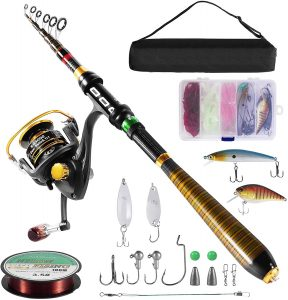 Milerong Telescopic Fishing Rod And Reel