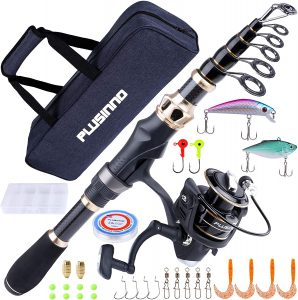 PLUSINNO Fishing Rod and Reel Combos