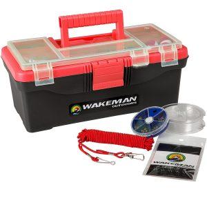 Wakeman Outdoors Fishing Single Tray Tackle Box