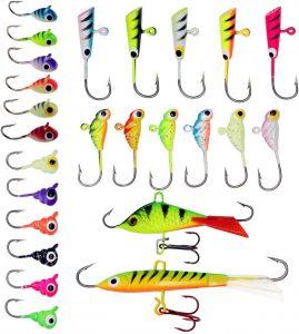 ZWMING Ice Fishing Lure Kit